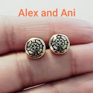 ALEX AND ANI Compass Stud Earrings